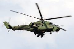 波兰空军队米-24后面攻击用直升机 免版税库存图片