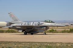 波兰空军队F-16战斗机飞机 免版税库存照片