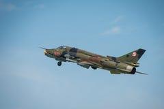 波兰空军SU 22更加适合的航空器 库存图片