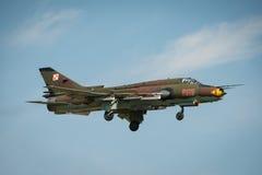 波兰空军SU 22更加适合的航空器 图库摄影