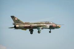 波兰空军SU 22更加适合的航空器 库存照片