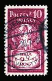 波兰老鹰, serie,大约1919年 免版税库存图片