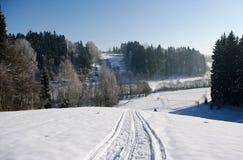 波兰视图冬天 库存照片