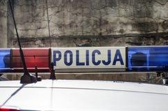 波兰警察签字 图库摄影