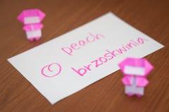 波兰语;学会与果子名字单词的新的语言 免版税库存图片