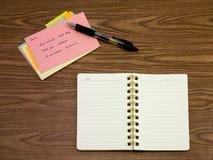 波兰语;学会在笔记本的新的语言文字词 免版税库存图片