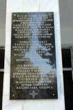 波兰语cementary在加拉拉巴德(Kyrgystan) 免版税库存照片
