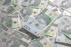 波兰货币背景 免版税库存图片