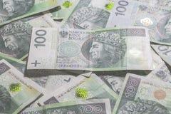 波兰货币背景 库存照片