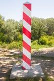 波兰边界杆 图库摄影