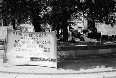 波兰避难者 免版税图库摄影