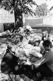 波兰避难者 库存图片
