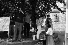 波兰避难者 库存照片