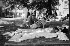 波兰避难者 免版税库存图片