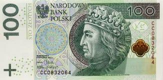 波兰钞票,金钱 免版税图库摄影