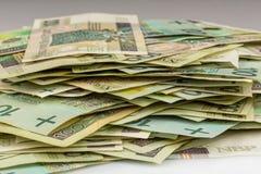 波兰钞票100 pln 库存照片