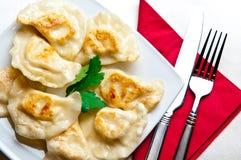 波兰饺子 库存图片