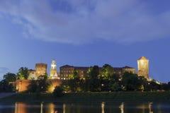 波兰,克拉科夫, Wawel皇家城堡升 库存照片