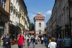 波兰,克拉科夫- 2016年5月27日:克拉科夫是第二大和那个最旧的城市在波兰 库存照片