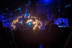 波兰,克拉科夫- 2015年1月01日:庆祝新年2015年 库存照片