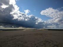 波兰,惊人的沙子 免版税库存图片
