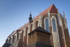 波兰, Krakà ³ w,卡齐米日,圣Catharine的哥特式Ch的东边 图库摄影