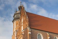 波兰, Krakà ³ w,卡齐米日,科珀斯克里斯蒂哥特式C的伦敦西区 免版税库存图片
