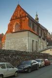波兰, Krakà ³ w,卡齐米日, Wst末端圣Catharine的哥特式储 免版税库存图片