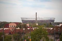 波兰, Mazovia地区,华沙,全国体育场华沙 图库摄影