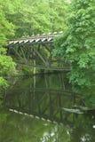 波兰, Wielkopolskie省,亚斯特罗维,被炸开的桥梁 库存照片