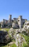 波兰 城堡在Ogrodzieniec 免版税库存图片
