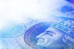 波兰货币现金特写镜头  免版税图库摄影