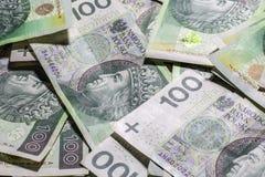 波兰货币背景 免版税库存照片