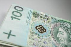 波兰货币100兹罗提 免版税库存照片