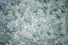 波兰货币100兹罗提 免版税库存图片