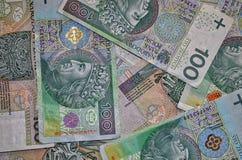 波兰货币 库存图片