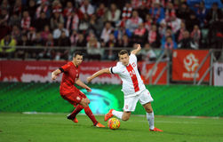 波兰-捷克友好的比赛 免版税图库摄影
