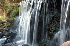 波兰 瀑布在公园 秋天 水平 免版税库存图片
