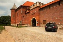 波兰-蒂科钦, 2016年7月:哥特式城堡在蒂科钦在7月201 免版税库存照片
