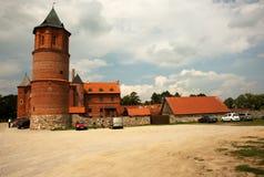 波兰-蒂科钦, 2016年7月 在蒂科钦附近的哥特式城堡在7月20日 免版税库存图片