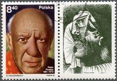 波兰- 1981年: 显示Pablo Picasso (1881-1973) 库存照片
