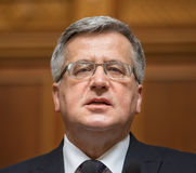 波兰总统Bronislaw Komorowski 库存照片