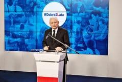 波兰` s执政党法律领导和法官,雅罗斯瓦夫・卡钦斯基 免版税库存照片