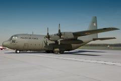 波兰C-130赫拉克勒斯 免版税库存照片