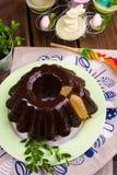 波兰schokolade babka 库存照片