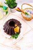 波兰schokolade babka 图库摄影