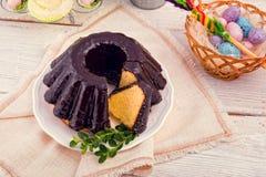 波兰schokolade babka 免版税库存图片