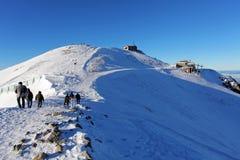 波兰Tatras在冬天- Kasprowy Wierch 免版税库存照片