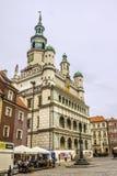 波兹南历史的市政厅  免版税库存图片
