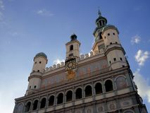 波兹南市政厅 免版税库存图片